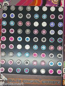 10mm Elegant Attractive Hip Hop Bling Crystal Gem Colorful Ear Stud Earrings - London, London, United Kingdom - 10mm Elegant Attractive Hip Hop Bling Crystal Gem Colorful Ear Stud Earrings - London, London, United Kingdom