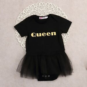 ausgefallene k nigin baby m dchen tutu kleid strampler rock body overall outfit. Black Bedroom Furniture Sets. Home Design Ideas