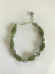 Twisted-Oval-Connemara-Marble-Celtic-Knot-Bracelet-Handmade-in-Ireland