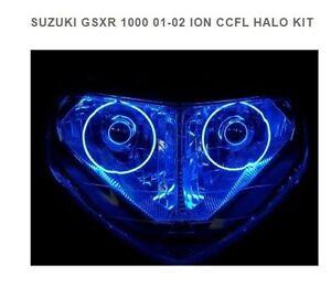 FITS SUZUKI GSXR 1000 2001-2002 CCFL DUAL HALO KIT HEADLIGHTS  SPORTBIKELITES