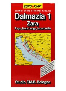 Dalmazia Italiana Cartina.Dalmazia 1 Zara Pago Isola Lunga Cartina Stradale 1 100 000 Carta Mappa Ebay