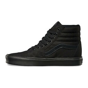 c7e17cf424 Men s Vans Sk8-Hi Lite Fashion Sneaker Classic Black Canvas All SZ ...