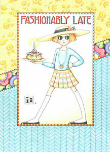 Mary engelbreit fashionably late cake belated birthday card new ebay image is loading mary engelbreit fashionably late cake belated birthday card bookmarktalkfo Image collections