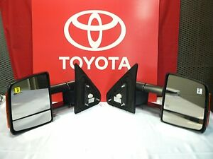 TOYOTA TUNDRA POWER FOLD TOW MIRROR SET 87910-0C281 87940-0C281 2009-15 NEW OEM