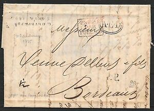 Russia covers 1835 folded letter St.Petersburg to Bordeaux / Postmarks