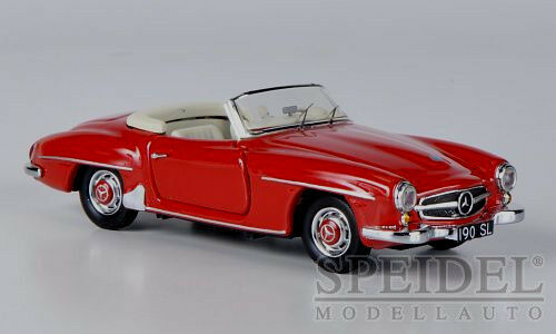 Wonderful modelcar MERCEDES-BENZ 190SL CONgreenIBLE 1955 - red  - scale 1 43