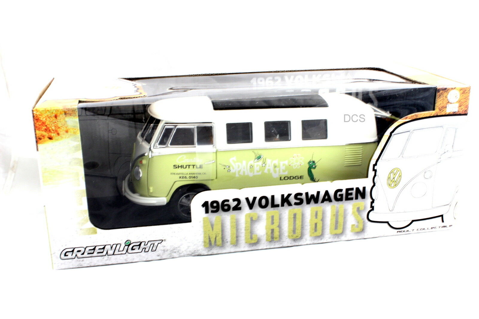 Greenlight 1962 VW Volkswagen Microbus Shuttle 1 18 Limited Editition