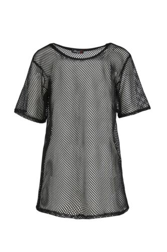 Ladies Baggy Knitted Net Short Sleeve T Shirt Tops Womens Lace Crochet Mesh Top