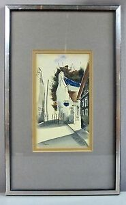 SERGE-PAQUE-Orig-Signed-Watercolor-Noted-Canadian-Artist-ExC-SHIPS-FREE