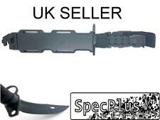 Airsoft Plastic M9 Style Rubber Blade Dummy Bayonet with Sheath Black UK