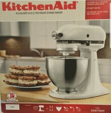 White Kitchenaid kitchenaid k45sswh 275w mixer | ebay