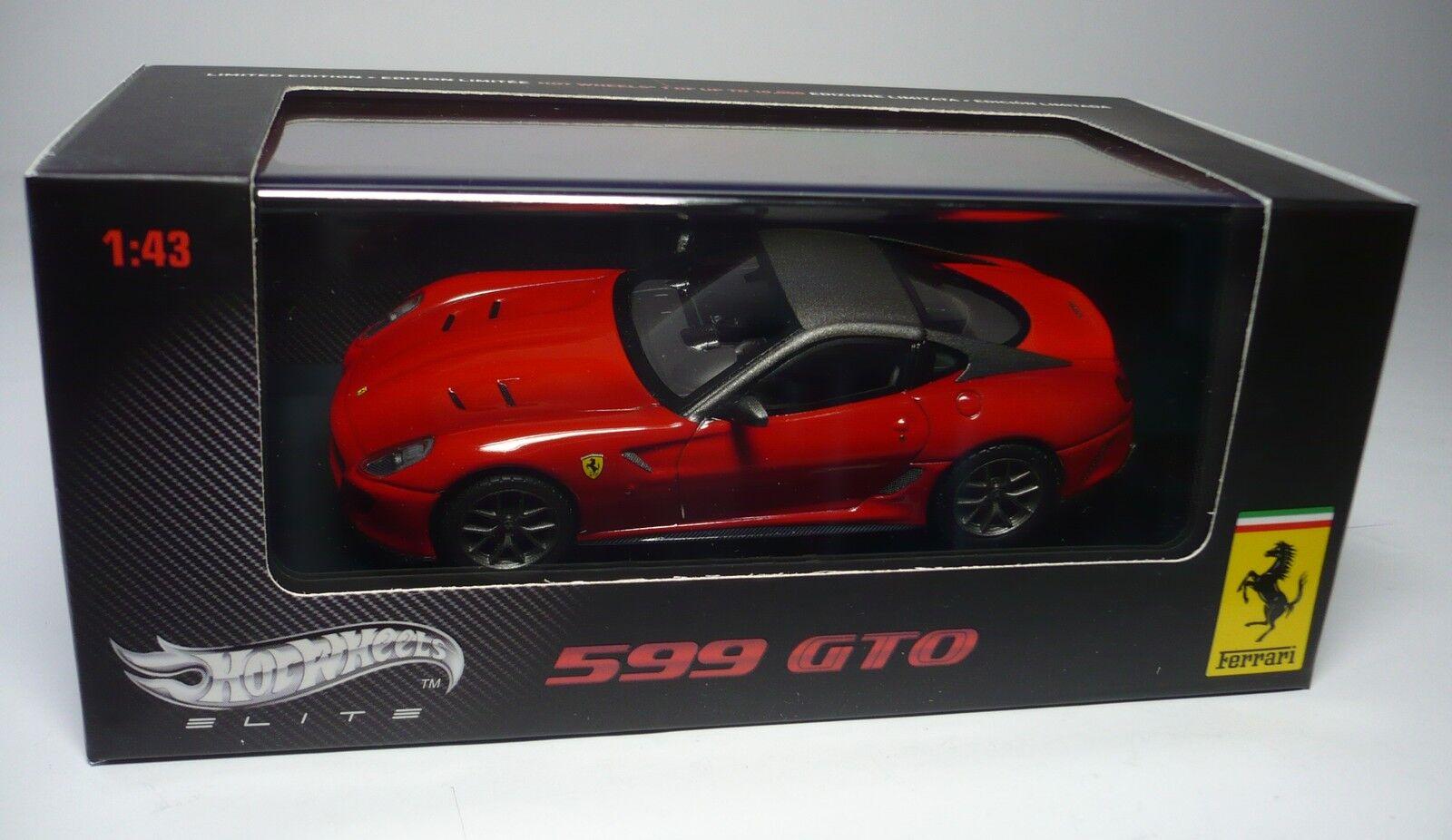 UN FERRARI 599 GTO 1:43 MATTEL HOT WHEELS ELITE