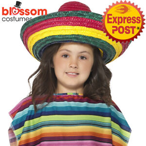 739a4ee259fc AC47 Child Kids Mexican Sombrero Straw Costume Hat Spanish Fiesta ...