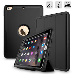 Hybrid-Shockproof-Rugged-Drop-Protection-Cover-Built-with-Kickstand-iPad-9-7-Air