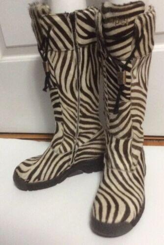 Giugiaro Bumper Boots Zebra Waterproof Lining Knee