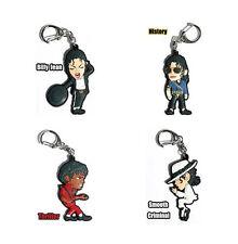 MJ Michael Jackson Key Chain Ring Bag Tag 4 Set Loose No Packing