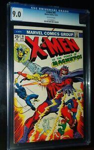 X-MEN-91-1974-Marvel-Comics-CGC-9-0-VF-NM-STAN-LEE