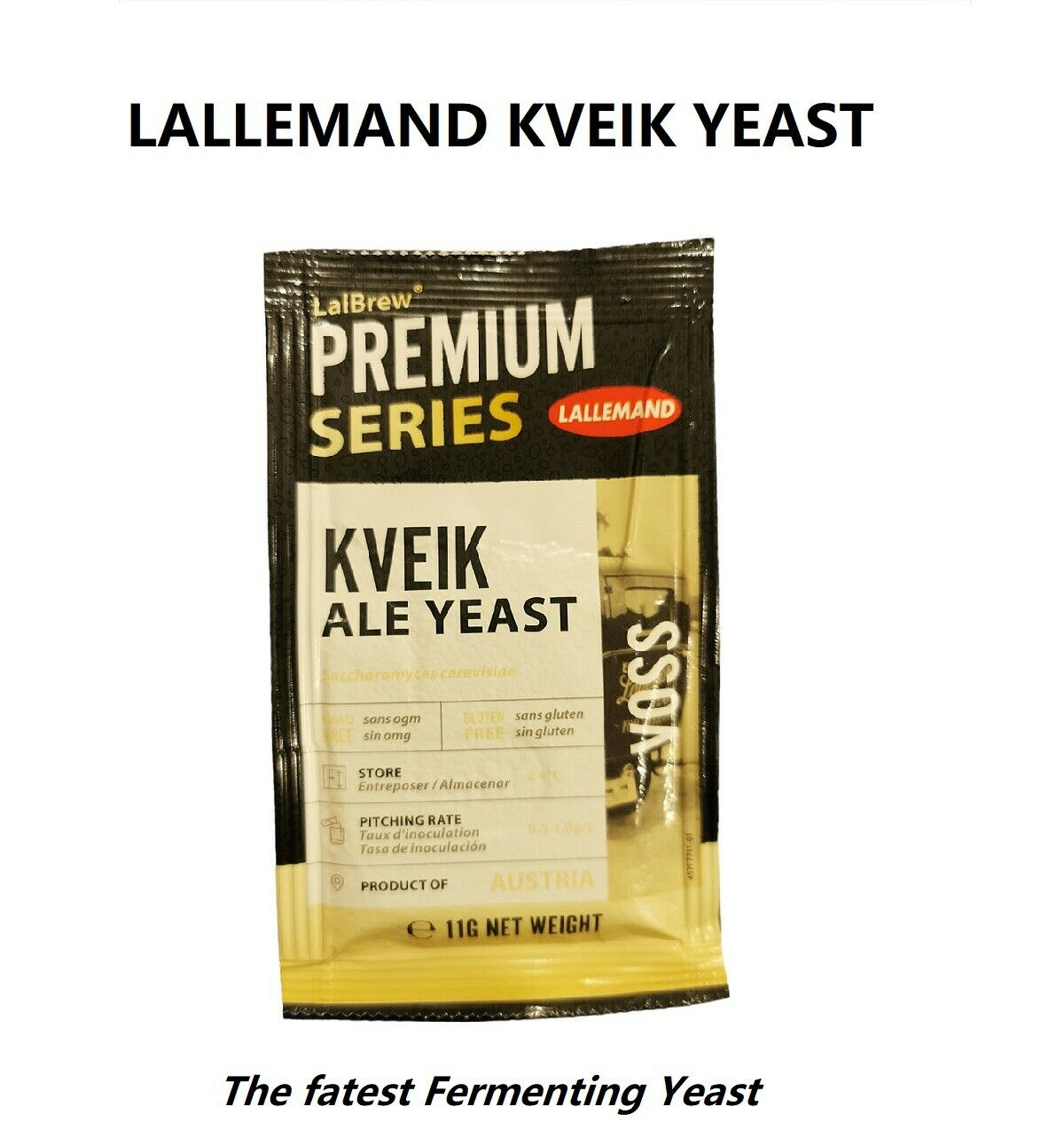 LALLEMAND LalBrew Kveik High Temperature Fast Ferment Ale Yeast for Craftbeer