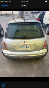 2002 Mini Cooper as is where is