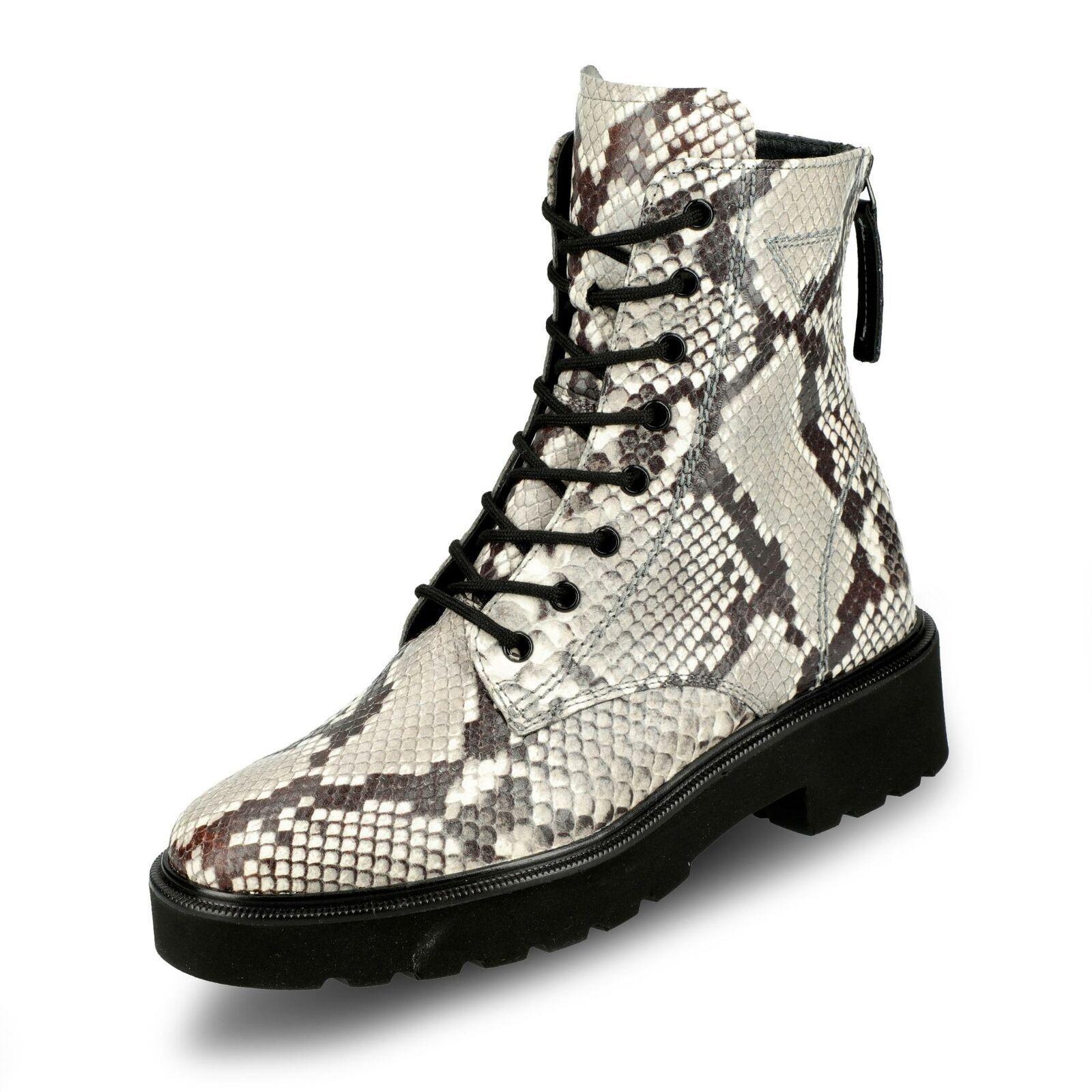 Paul Grün Damen Stiefel Stiefel Stiefelette Schnürstiefeletten Schuhe grau cobra