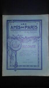Revista Dibujada Las Amis De París N º 42 Mensual 1916 Gerente Claude Simond ABE