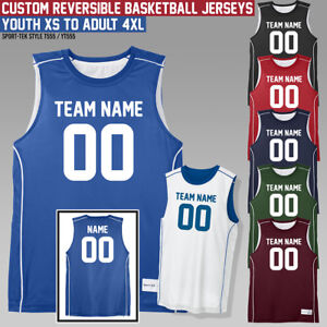 4e80884d6 Image is loading Custom-Reversible-Basketball-Jersey-Team-Uniforms -Sleeveless-Jerseys