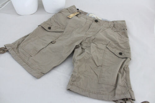 TOM TAILOR Homme Short Cargo SlimFit Cotton Beige T w28 w29 w30 neuf Soldes a399