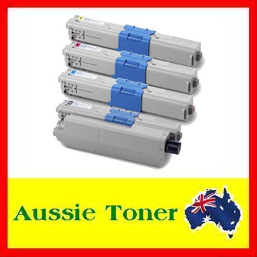4x Toner Cartridge for OKI MC361 MC361DN 310 330 C310 C310DN C330 C330DN Printer
