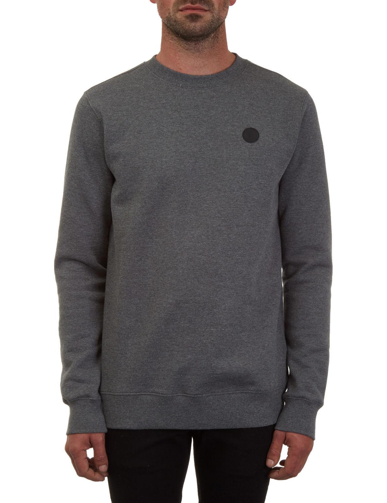 Volcom  Herren Single Stone Crew Sweatshirt Jumper Grau