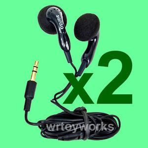 2-New-GENUINE-SANDISK-SANSA-Earphone-Earbud-Headphones-for-Clip-Fuze-MP3-Players