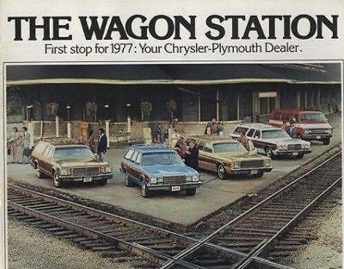 1977 Chrysler Plymouth Station Wagon Original Car Brochure Fury Gran Volare