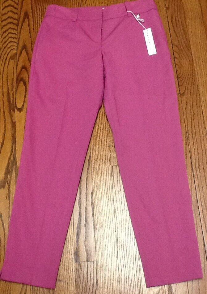 NWT  TRINA TURK purpleA casual PANTS sz 2 waist 30