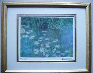 Details Sur Les Nympheas Maitre Claude Monet Tableau Reproduction N 4 Collection Certificat