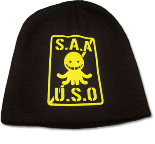 Assassination Classroom S.A.A.U.S.O Black and Yellow Beanie ~ Licensed