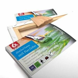 Set-of-2x-50x50-cm-20x20-inch-BLANK-STRETCHED-CANVAS-GESSO-PRIMED-100-COTTON