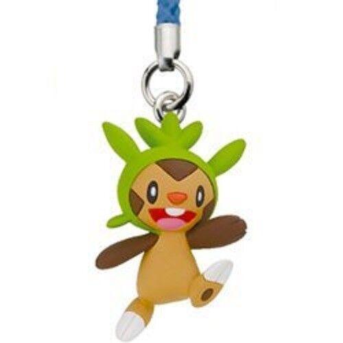 B57 TAKARA TOMY Pokemon XY Chespin Key Chain Gashapon Figure Brown Animal ハリマロン