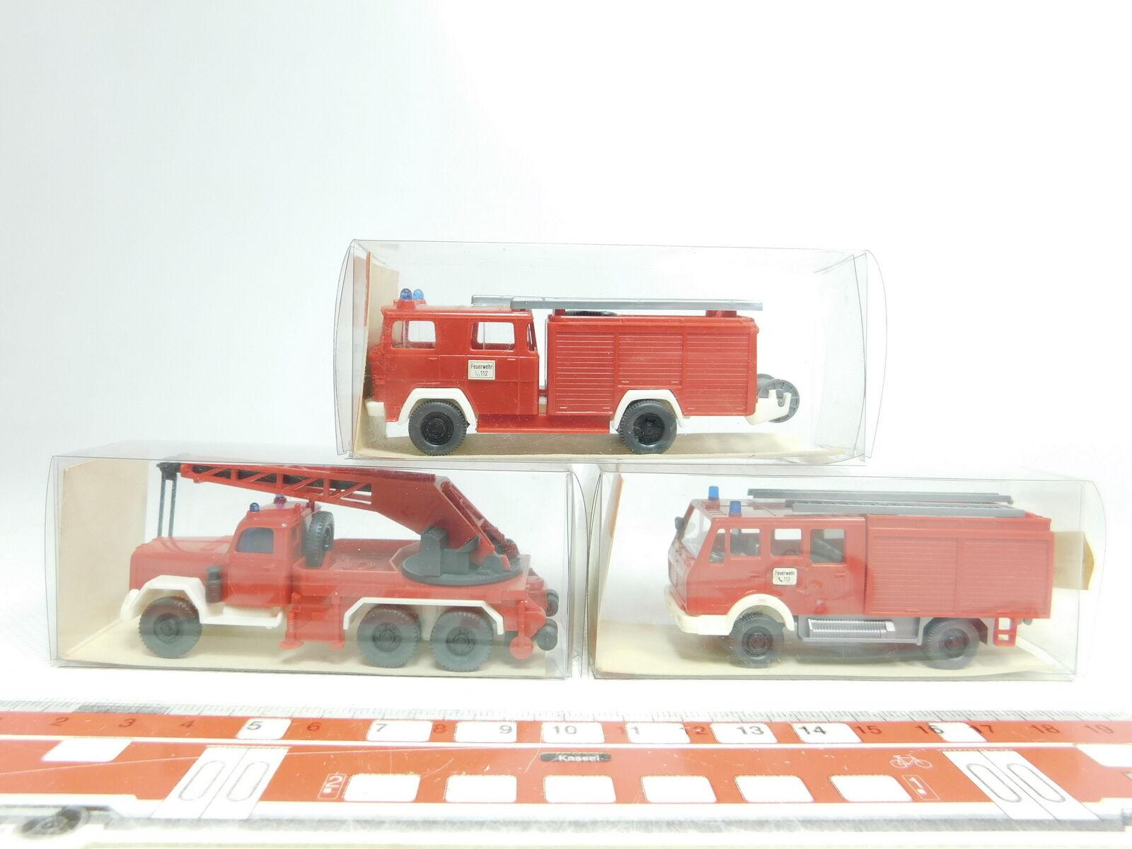 Bj470-0, 5 5 5  3x WIKING h0 1 87 Pompiers FW  630+610 MAGIRUS +616 Mercedes Neuw + neuf dans sa boîte 92eebc