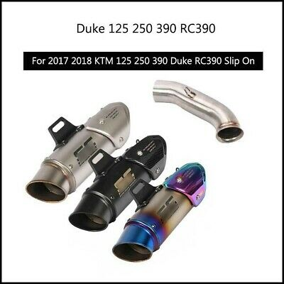 Motorcycle Exhaust Muffler Pipe Slip With 51mm Mid Link Pipe Fit For KTM DUKE 125 250 390 2017 2018 Color : A