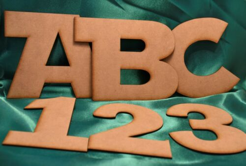 MDF Wooden 4mm Craft Letters various sizes and fonts Laser cut