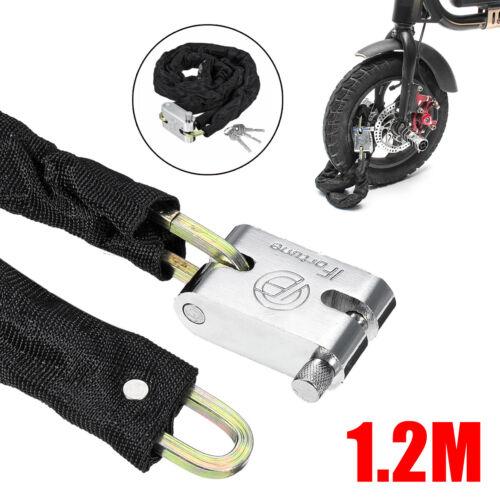 1.2M Metal Motorcycle Motorbike Bicycle Scooter Heavy Duty Chain Lock Padlock