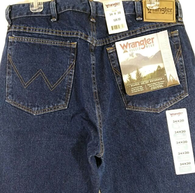 a49dabac Wrangler Jeans Mens Rugged Wear Classic Fit Jean Tapered Leg 39902 39902RS Retro  Stone 34 30