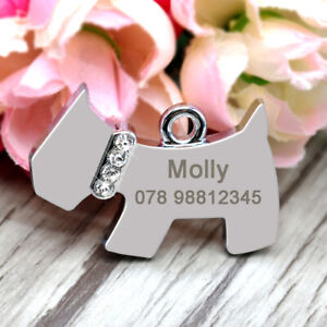 Personalised-Dog-Shape-Tags-Disc-Disk-Stainless-Steel-Name-ID-Tags-Engraved-Free