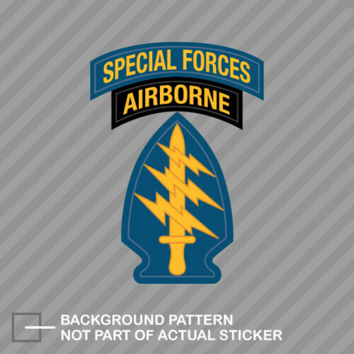 US Army Special Forces Airborne Sticker Decal Vinyl Green Berets