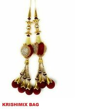 Gold Beaded Salwar Kameez Indian Accessory Crafting Supply Tassels 10 PC Trims