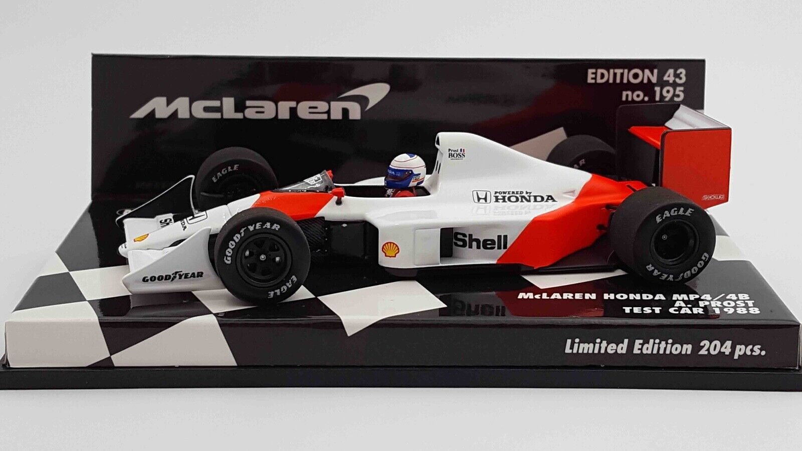 Minichamps 537884399 1 43 1988 Mclaren MP4 4B Test Car Alain Prost F1™ Model