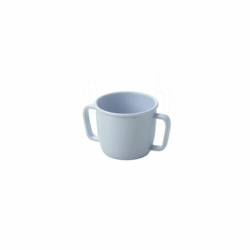 Bamboo-scented double handle Kids cup 230ml Nordic Blue daily supplies#^