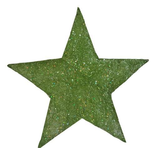 2x Stern Sisal Grün 20cm Tischdekoration Weihnachten Adventstern Sterne