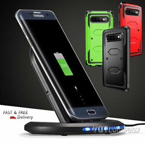 differently 86731 da294 Details about For Samsung Galaxy S10+ S9 S8 Plus Note 9 Qi Fast Wireless  Charger Charging+Case