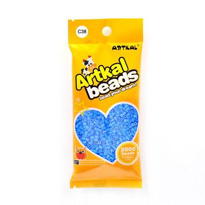 Fuse Beads Bestellungen Sind Willkommen. Mini Bügelperlen 2,6mm C38 Cerulean Blue Pflichtbewusst Original Artkal 2000stk