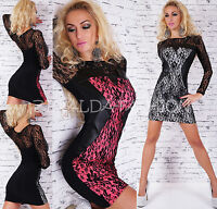 SEXY MINI DRESS DRESS ELEGANT SPECIAL OCCASION PARTY LACE MADE IN UK S M L